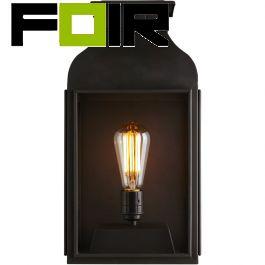 Davey Lighting 'Lantern' voordeur verlichting zwart wandlamp E27 fitting 420mm