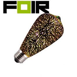 ST64 E27 3.5W Spark LED lamp zwart