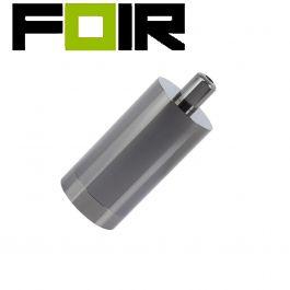 E27 fitting metaal rond vier kleuren modern-Zwart