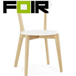 Eetkamer stoel wit modern 'Kay' hout Kokoon Design