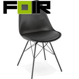 Eettafel stoel 'Fabrik' zwart Kokoon Design Eetkamerstoel