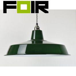Industriële lampenkap groen fabriekslamp E27 450mm
