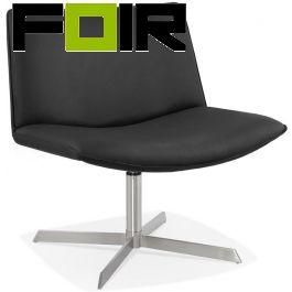 Kokoon Design 'Korsa' Fauteuil Zwart chrome onderstel