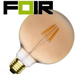 G125 E27 6W Supreme gouden LED lamp (dimbaar)