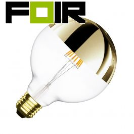 Grote Nostalgia globe E27 met 'Gold Cap' led lamp