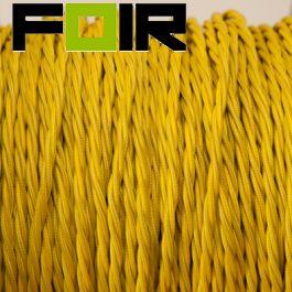 Strijkijzersnoer Geel gevlochten