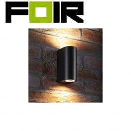 Wandlamp zwart gevelverlichting 'Gaia' modern downlight & uplight IP44