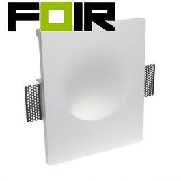 Inbouwspot 'Zoë' gips wandlamp wit gu10 fitting