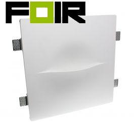 Wandlamp gips wit 'Zicon' inbouw wandlamp trapverlichting