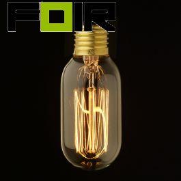 Gloeilamp buis kooldraadlamp rechte draad E27 60W T45