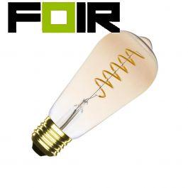 ST64 edison led lamp 4W spiraal 2200k goud glas warm wit