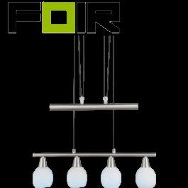 Hanglamp verstelbaar nikkel 'Elliot' E14 fitting 600mm