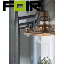 Hanglamp industrieel roest 'Jaden' E27 fitting 295mm