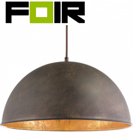 Hanglamp 'Xirena' lampenkap - roest metaal - goud
