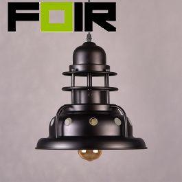 Hanglamp industrieel zwart 'Renzo' E27 fitting modern rond 300mm
