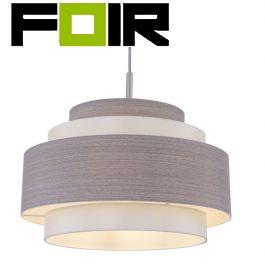 Hanglamp satijn nikkel E27 fitting 350mm