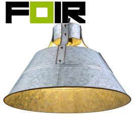 Hanglamp 'Gunter I' zink industrieel E27 fitting 450mm