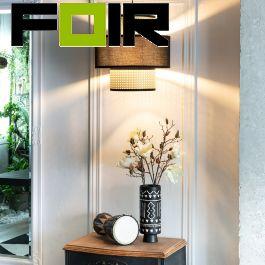 Hanglamp 'Cardo' bamboe modern E27 fitting 390mm