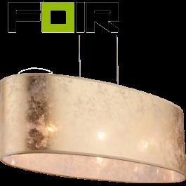 Hanglamp ovaal goud textiel nikkel 'Amy' E27 fitting  650mm