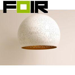Hanglamp wit goud 'Will' Oosterse hanglamp filigrain stijl open wit/goud 400mm