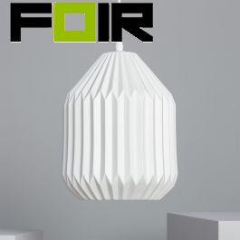 Hanglamp porselein 'Eramus' E27 fitting modern wit noors design 300mm