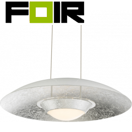Hanglamp zilver 'Etna' led lamp 18W 400mm