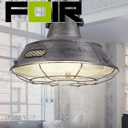 Hanglamp industrieel zilver LeuchtenDirekt 400mm E27 fitting