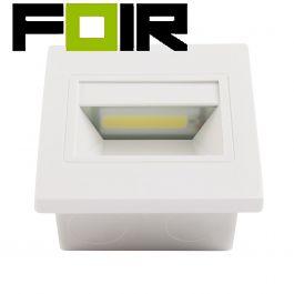 Trapverlichting 'Karel' inbouw 3 kleuren 1,5W led