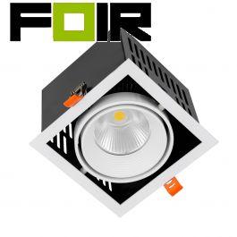 Inbouwspot retail 30W SAMSUNG COB LED Grill spotlight - LIFUD 140x140 mm