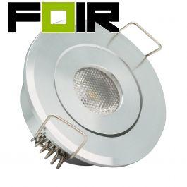 Kleine inbouwspot aluminium rond 1W COB LED