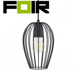 Hanglamp 'San' zwart kooi E27 fitting 150mm