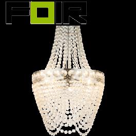 Kroonluchter hanglamp acryl kristallen 'Stromboli' helder 3x E27 fitting 380mm