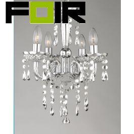 Kroonluchter Kristall glas chrome 'Cuimbra' 5x e14 fitting 420mm