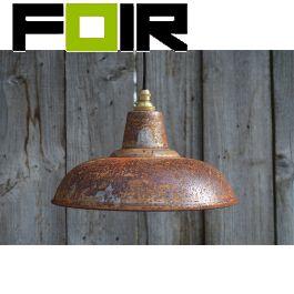 Industriele lampenkap roest lampenkap 26.8cm vintage