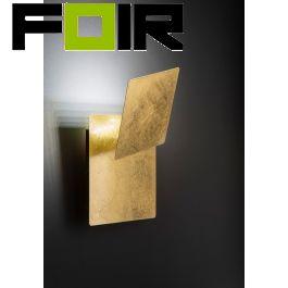 Wandlamp blad goud 'Fey' led lamp verstelbaar