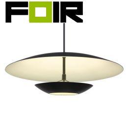 Design hanglamp 'Manu' zwart led lamp 30W groot 400mm