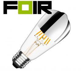 ST64 E27 7.5W zilver reflect big lemon ST64 gloeidraad LED lamp (dimbaar)