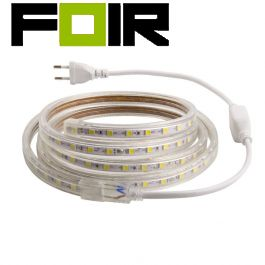 LED Strip, 1m 220V AC, SMD5050, 60 LED/m (Warm wit)