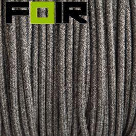 Strijkijzersnoer Linnen zwart grijs rond