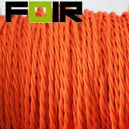 Strijkijzersnoer Mat Oranje gevlochten lengte van 100cm
