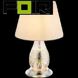 Tafellamp modern chrome 'Elias' E27 fitting 460mm