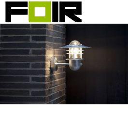 Nordlux 'Agger' wandlamp voordeur bewegingsmelder E27 fitting Verzinkt IP54