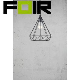 Nordlux 'Aire' hanglamp draadlamp E27 fitting kooilamp zwart staal