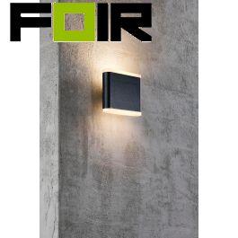 Nordlux 'Akron 11' Led wandlamp gevelverlichting zwart antraciet 2x3W 3000K buitenverlichting