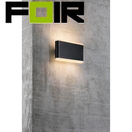 Nordlux 'Akron 17' wandlamp gevelverlichting zwart warm wit 3000k
