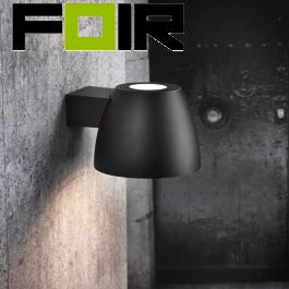Nordlux 'Bell' buitenlamp wandlamp zwart aluminium E27 fitting IP44