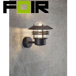 Nordlux 'Blokhus' zwart voordeur lamp up lighter E27 fitting