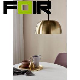 Nordlux 'Cera' hanglamp goud modern E27 fitting messing 360mm