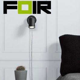 Nordlux 'Explore' zwart  wandlamp slaapkamer led lamp GU10