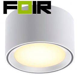 Nordlux 'Fallon' 6 LED opbouwspot wit 8.5W 500Lm 2700K warm wit